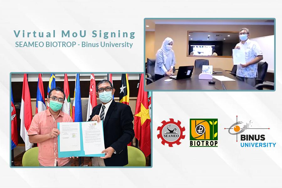 SEAMEO BIOTROP Inks Memorandum of Understanding with Bina Nusantara University (BINUS)