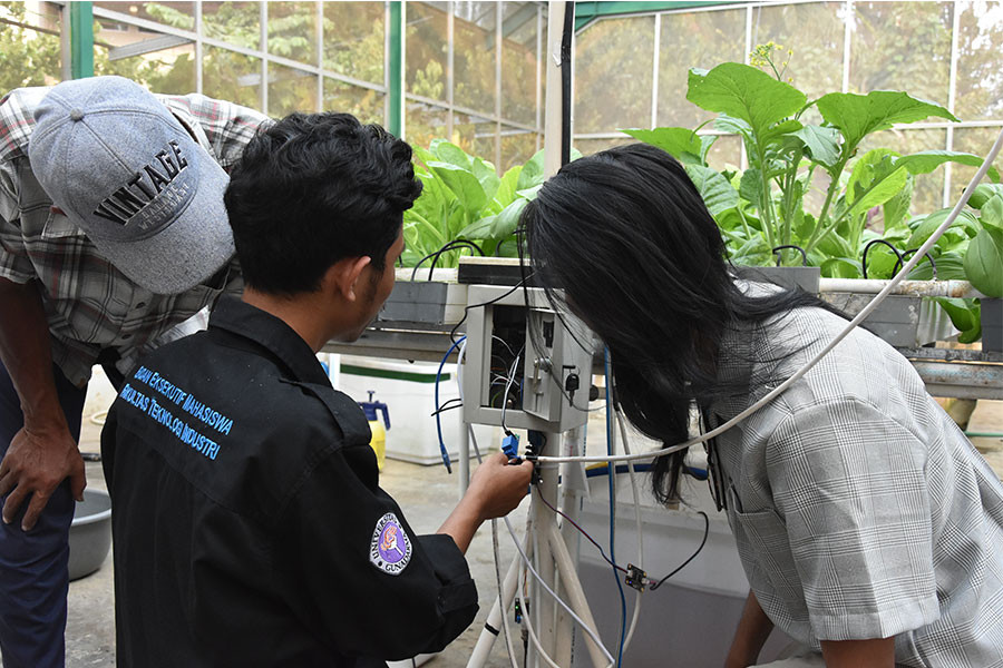 Touch of Digital Technology in Hydroponic System